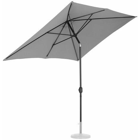 Parasol de jardin meuble abri terrasse rectangulaire 200 x 300 cm inclinable anthracite