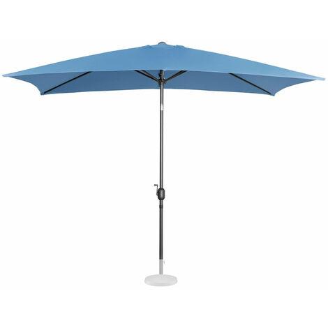 Parasol de jardin meuble abri terrasse rectangulaire 200 x 300 cm inclinable bleu - Bleu