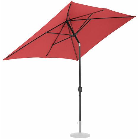 Parasol de jardin meuble abri terrasse rectangulaire 200 x 300 cm inclinable bordeaux - Bordeaux