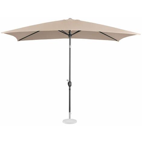 Parasol de jardin meuble abri terrasse rectangulaire 200 x 300 cm inclinable crème - Crème