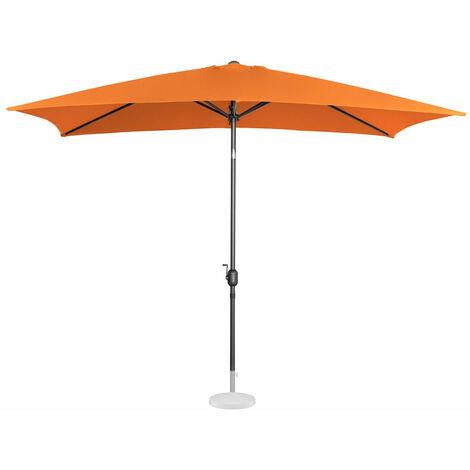 Parasol de jardin meuble abri terrasse rectangulaire 200 x 300 cm inclinable orange - Or