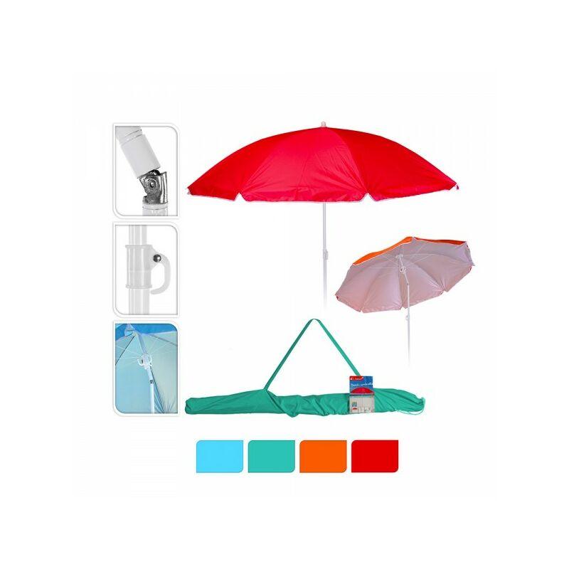 Parasol de plage ø160cm plusieurs couleurs au choix, avec housse