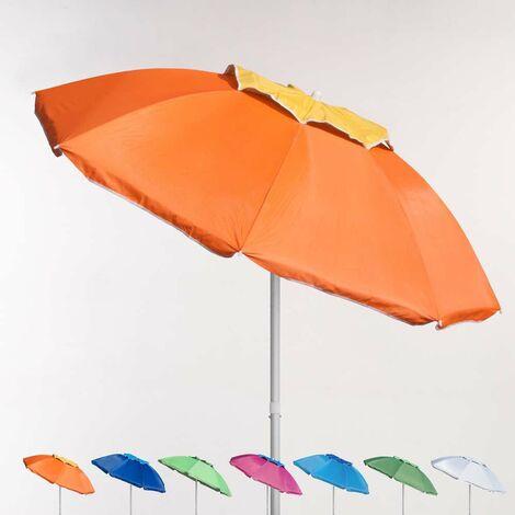 Parasol de plage 200 cm aluminium anti-vent protection UV CORSICA