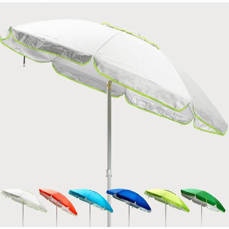Parasol de plage 200 cm anti-vent protection UV SARDEGNA