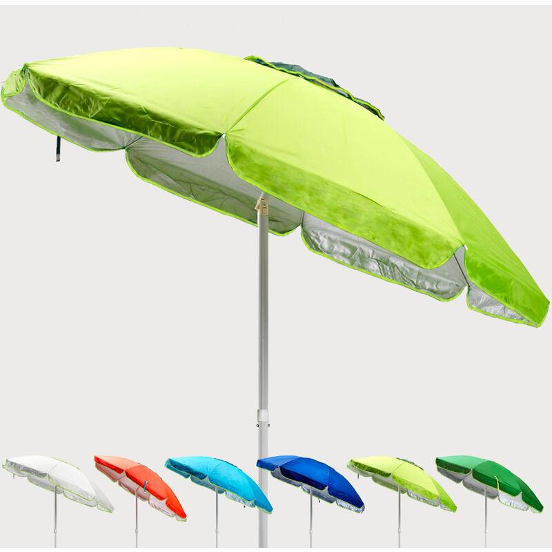 Parasol de plage 200 cm anti-vent protection uv Sardegna | Vert