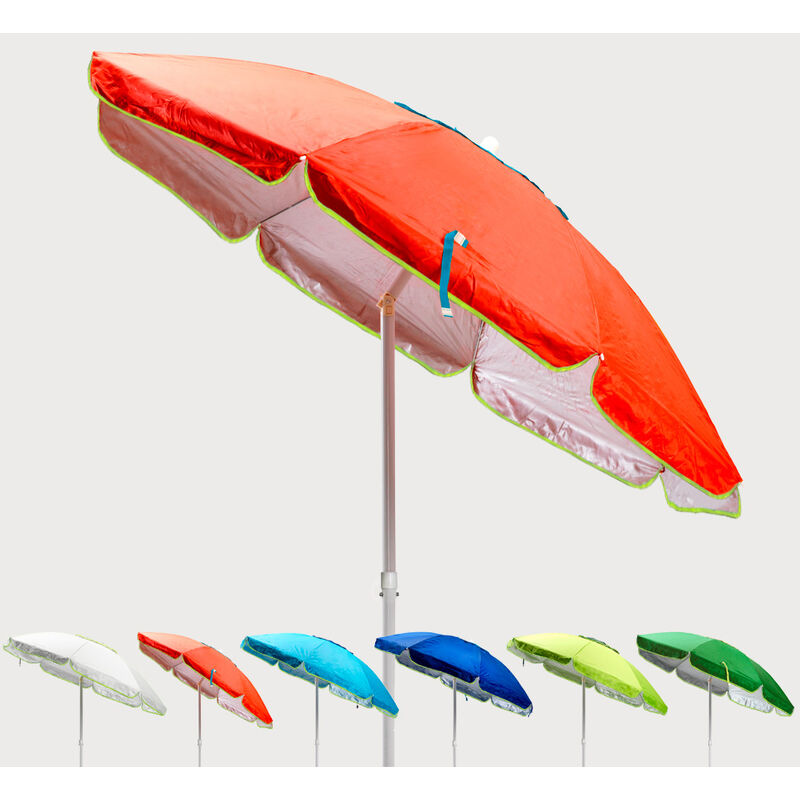 Parasol de plage 200 cm anti-vent protection uv Sardegna | Orange