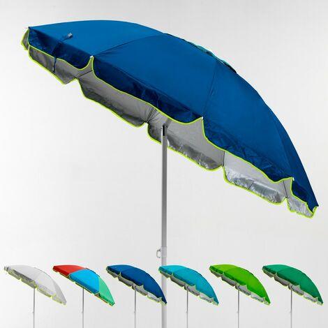 Parasol de plage 220 cm anti-vent protection UV PORTOFINO