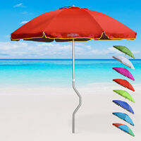 parasol de plage aluminium leger visser protection uv girafacile 220 cm eolo
