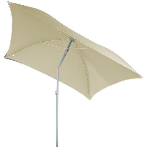 Parasol de plage carré Hélenie - L. 180 x l. 180 cm - Marron sable - Marron