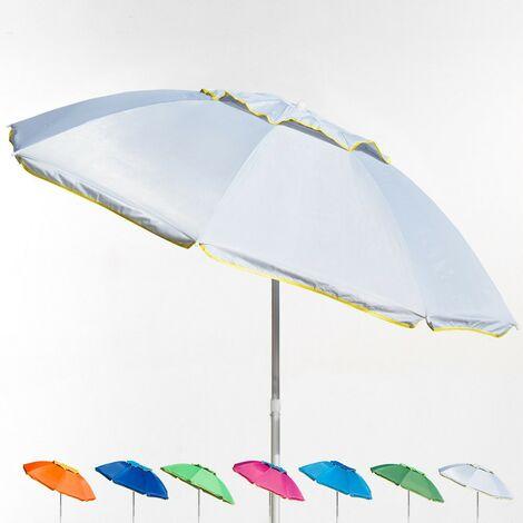 Parasol de plage en aluminium 180 cm avec coupe vent et protection UV CORSICA