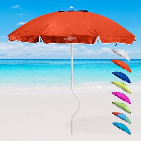 Parasol de plage léger visser protection UV GiraFacile 200 cm ERMES