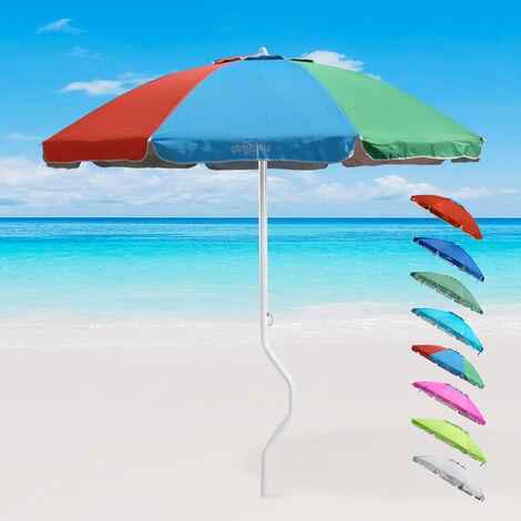Parasol de plage léger visser protection UV GiraFacile 220 cm APOLLO