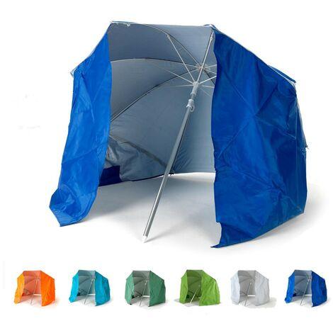 Parasol de plage pliable portable léger aluminium tente 160 cm PIUMA