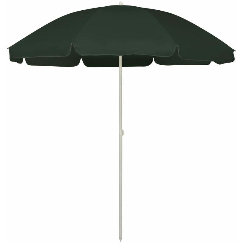 Parasol de plage Vert 240 cm