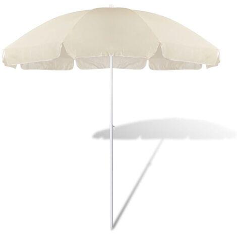Parasol De Playa 240 cm Color De Arena Amarilla