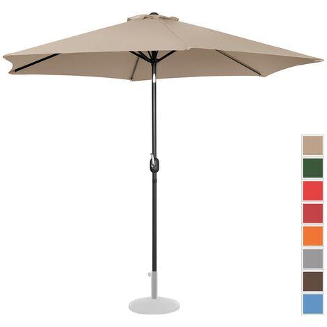 Parasol De Terrasse Droit Grand Jardin Protection Solaire Uniprodo Crème Hexagonal