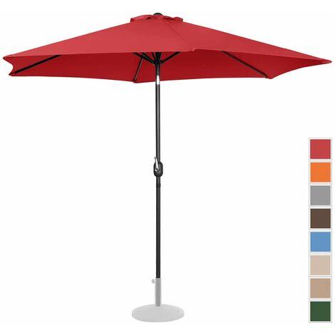 Parasol De Terrasse Droit Grand Jardin Protection Solaire Uniprodo Rouge Hexagonal