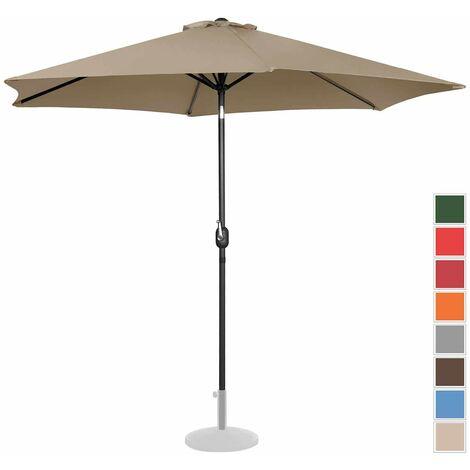 Parasol De Terrasse Droit Grand Jardin Protection Solaire Uniprodo Taupe Hexagonal
