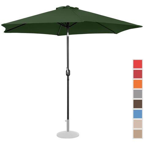 Parasol De Terrasse Droit Grand Jardin Protection Solaire Uniprodo Vert Hexagonal