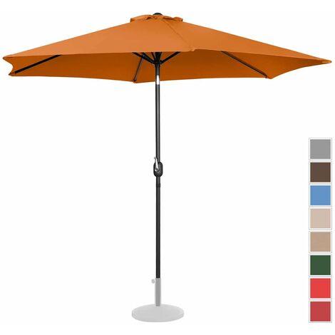Parasol De Terrasse Droit Grand Protection Solaire Uniprodo Orange Hexagonal