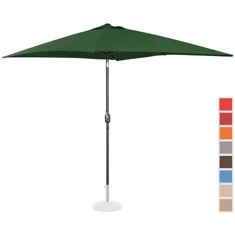 Parasol De Terrasse Jardin Droit Manivelle Vert 200X300 Cm Spf 50+ Inclinable