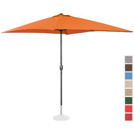 Parasol De Terrasse Protection Solaire Jardin Droit Manivelle Orange 200X300Cm