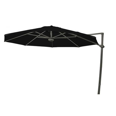 Parasol décentré Laterna Noir anti-UV inclinable rond ?350cm