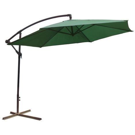 Parasol déporté 3 mètres Vert 300 cm