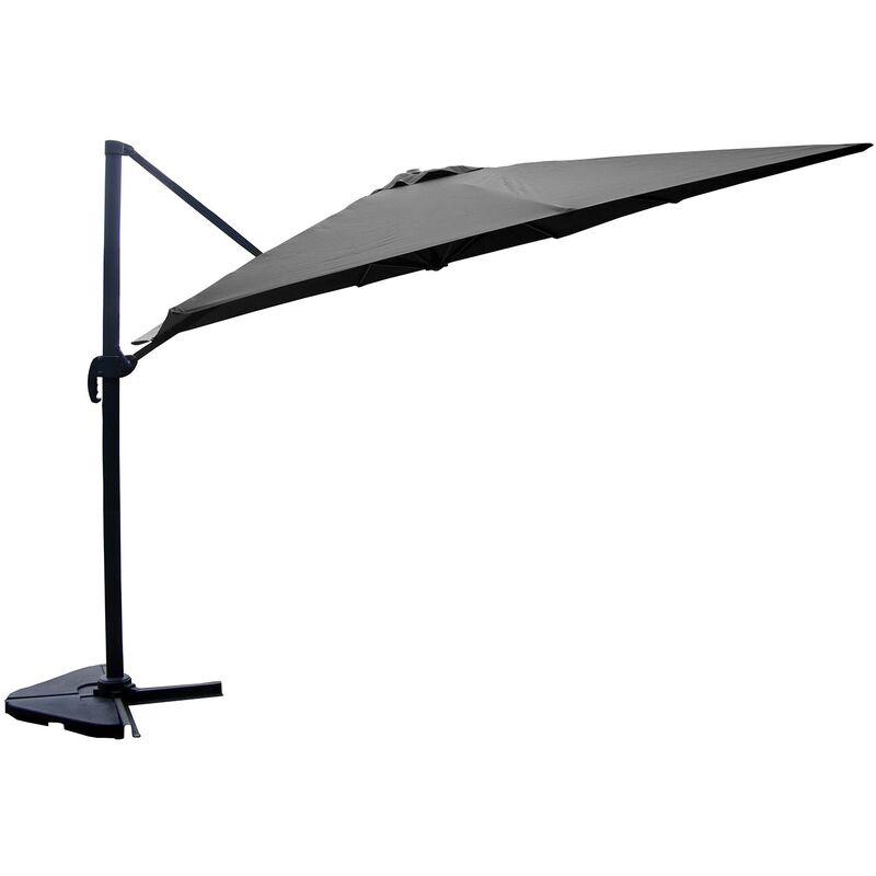 Concept-usine - Cesare - Parasol déporté 3x4m Gris