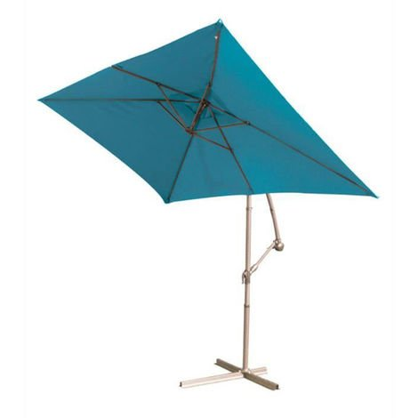 Parasol deporte Bleu en aluminium - 3 x 2 m -PEGANE-