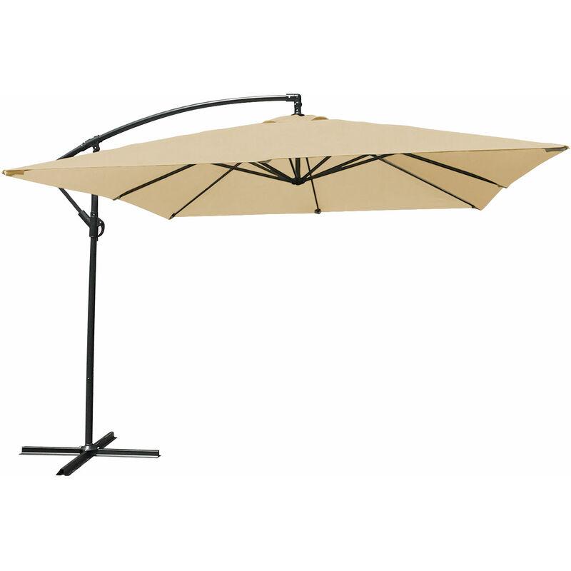 Parasol déporté MOLOKAI carré 2,7x2,7m beige - Beige