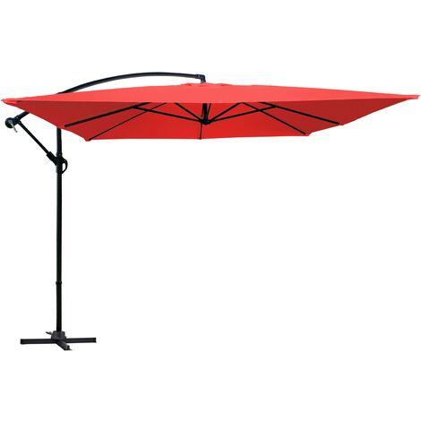 Parasol déporté carré 3 m