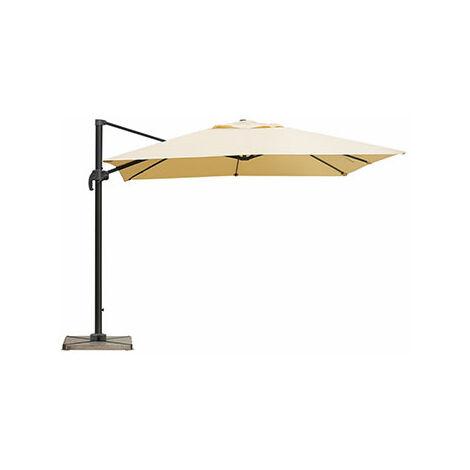 Parasol déporté carré 3 m beige - PALERME