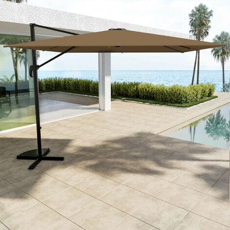 parasol d port carr 3x3m aluminium rotatif 360. Black Bedroom Furniture Sets. Home Design Ideas
