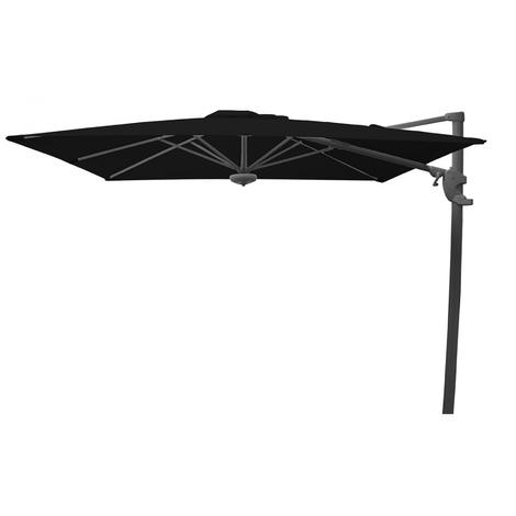 Parasol déporté carré coloris Noir 260x260 cm