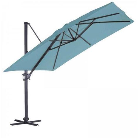 Parasol Deporte carre en coloris Bleu petrole - 3 x 3 m -PEGANE-