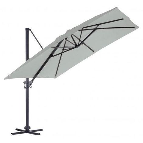 Parasol Deporte carre en coloris Gris Perle - 3 x 3 m -PEGANE-
