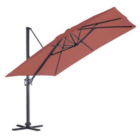 Parasol Deporte carre en coloris Rouge - 3 x 3 m -PEGANE-