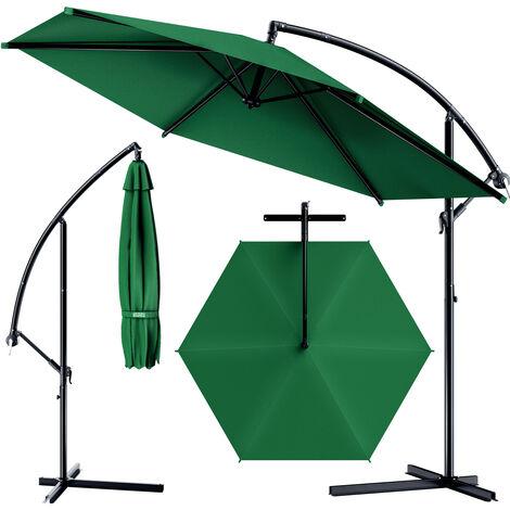 Parasol déporté en alu Pare soleil Avec manivelle Ø 350cm ou Ø 350cm Jardin