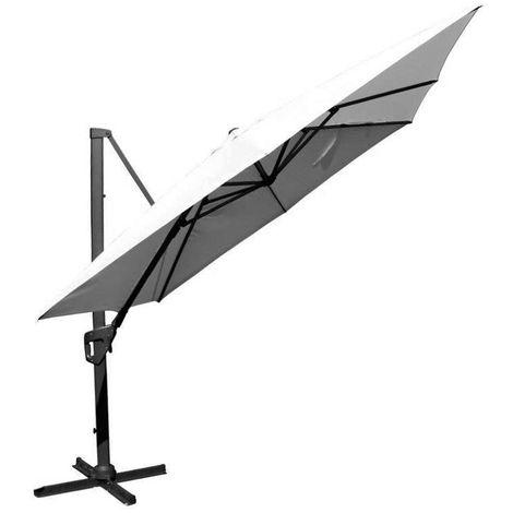 Parasol déporté en aluminium 350x350 cm Arkan