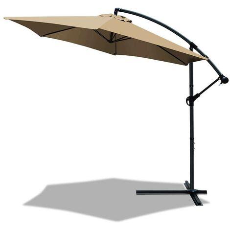 Parasol déporté hexagonale 3M avec housse de protection Gris