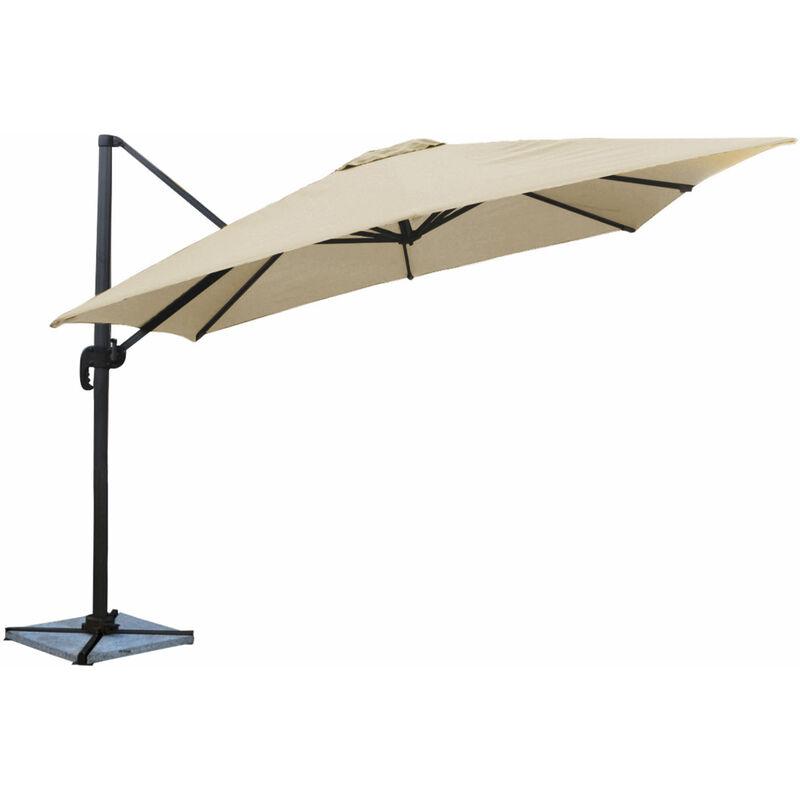 Parasol déporté MOLOKAI carré 3x3m beige - Beige