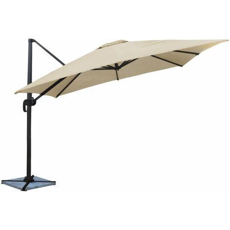 parasol d port molokai carr 3x3m beige par544c. Black Bedroom Furniture Sets. Home Design Ideas