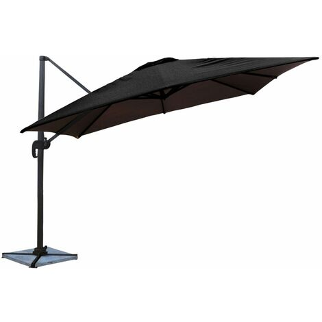 Parasol déporté MOLOKAI carré 3x3m noir