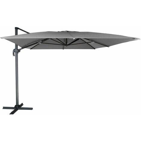 Parasol d port molokai rectangulaire 3x4m gris par547g Parasol deporte rectangulaire 3x4m