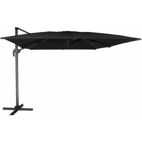 Parasol déporté MOLOKAI rectangulaire 3x4m noir - Noir