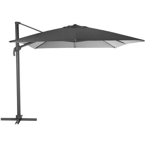 Parasol déporté rectangle Elea 3 x 4 m Graphite/Ardoise - Hespéride
