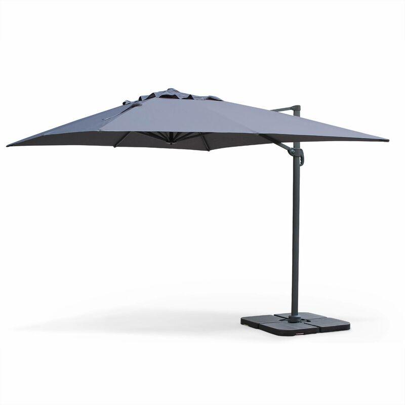Parasol d port rectangulaire st jean de luz 3x4m haut de - Parasol deporte rectangulaire 4x3 ...