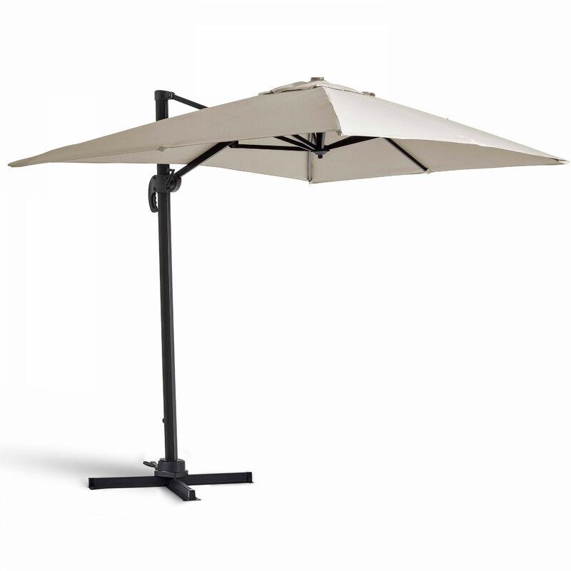 Parasol déporté rectangulaire 2x3m Amalya - Ecru - Ecru