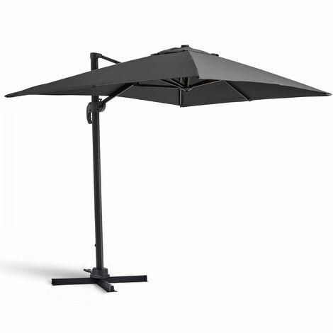 Parasol déporté rotatif, structure en aluminium, 2x3m